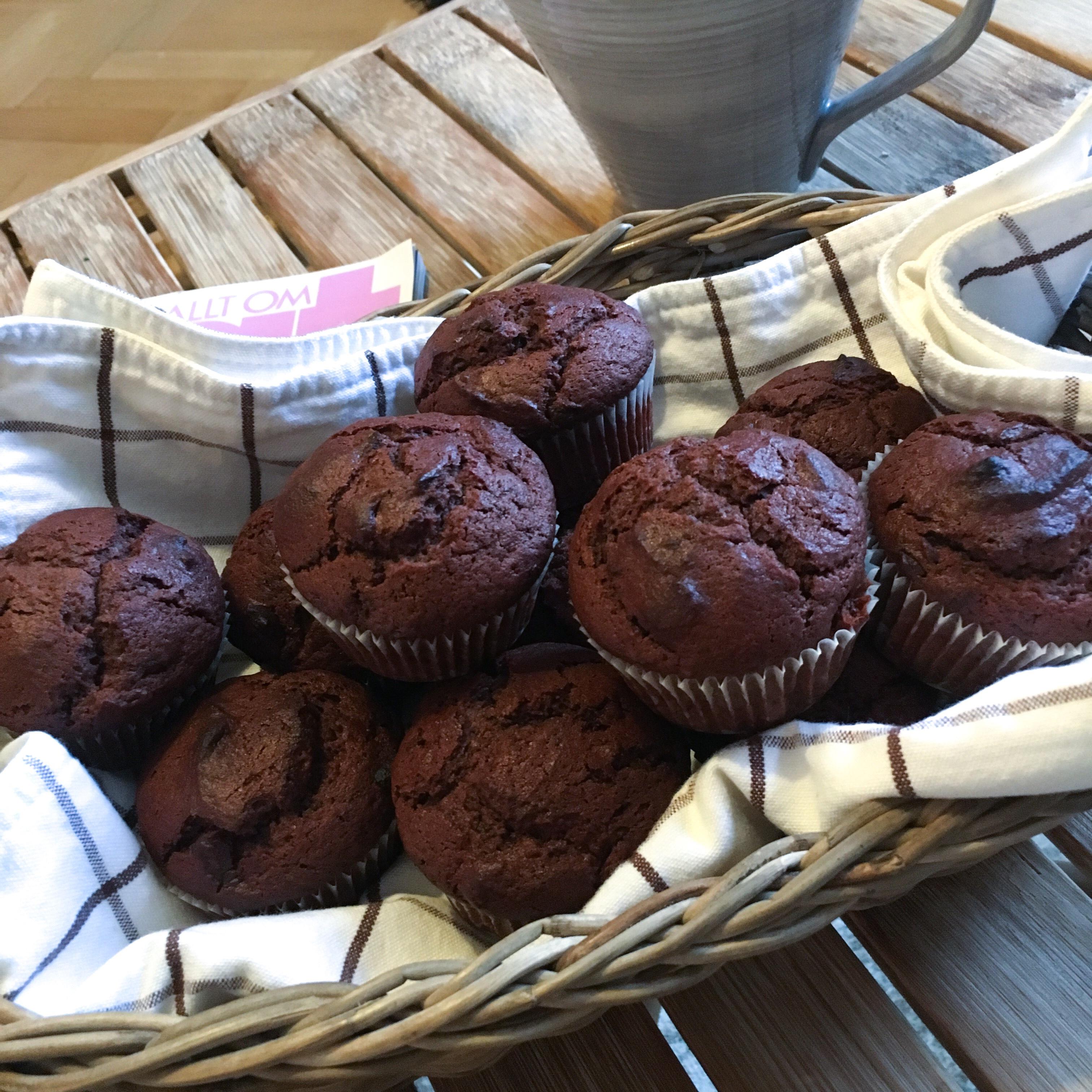 chokladmuffins med fyllning
